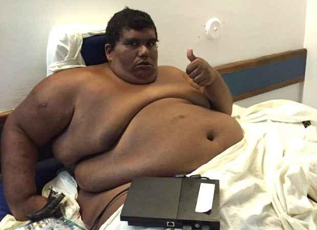 carlinhos obesidade - Paraibano Carlinhos recebe alta de Hospital após emagrecer mais de 150 quilos