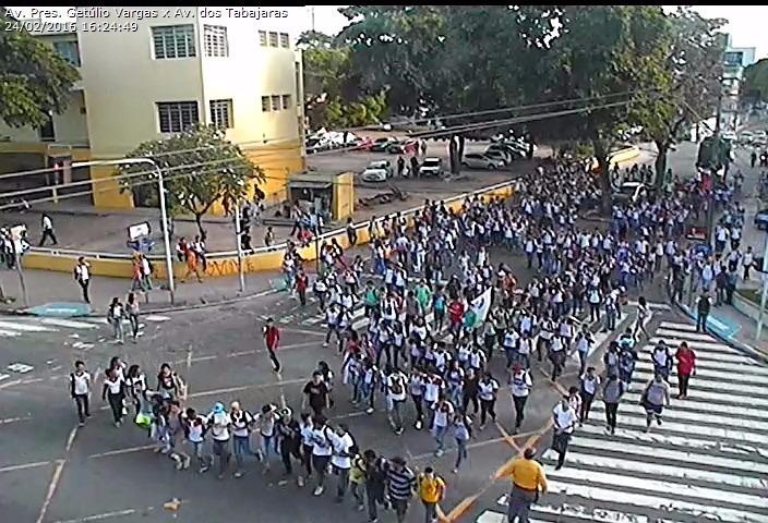 mobilização - Estudantes fazem nova mobilização contra aumento de passagem em João Pessoa