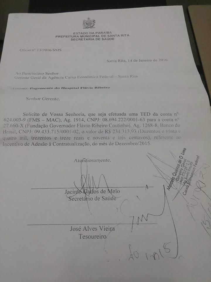saude 2 - Prefeitura de Santa Rita garante atendimento de emergência em hospital da cidade