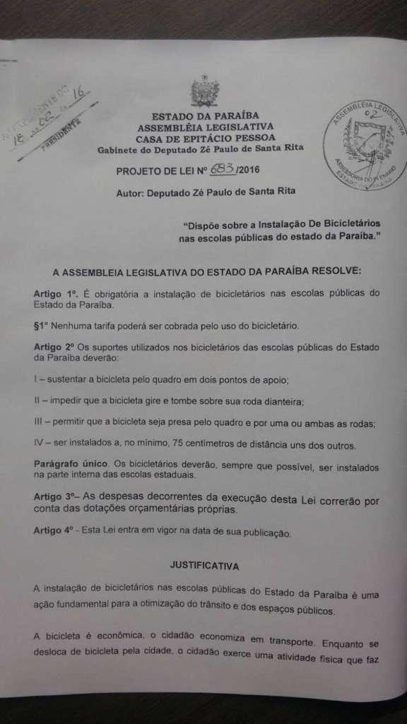 939301 1048814788508020 401625900 o - Deputado Zé Paulo emite nota e diz que projetos em outros estados são 'calúnias'