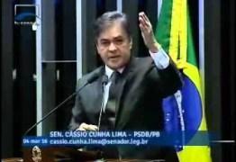 FORA DILMA: Cássio em discurso no senado convoca brasileiros a manifesto dia 13 contra Dilma – VEJA VÍDEO