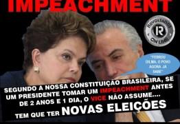 Impeachment de Temer com texto usado contra Dilma