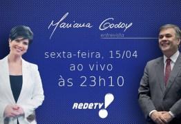 Senador Cássio Cunha Lima participa do 'Mariana Godoy Entrevista' nesta sexta feira na Rede TV