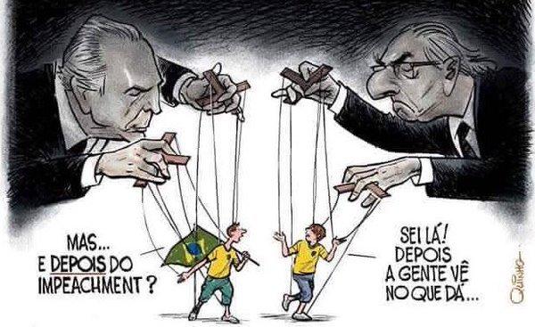 charge - Após derrota de Dilma na Câmara, Ricardo desabafa e rebate internautas