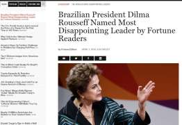 Dilma lidera ranking da revista Fortune dos líderes mais decepcionantes do mundo