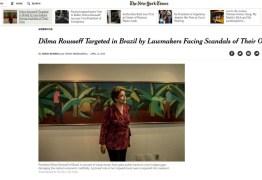 'New York Times': Impeachment expõe hipocrisia da política no Brasil