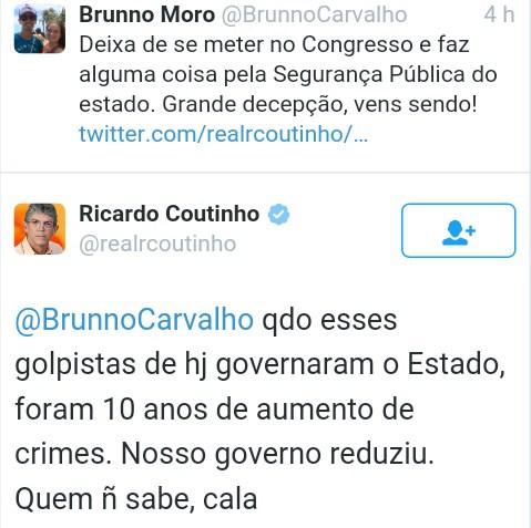 tweet ricardo 3 - Após derrota de Dilma na Câmara, Ricardo desabafa e rebate internautas