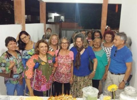 cida - APOIOS: Cida Ramos se reúne com professores apoiadores da UFPB