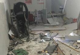 MAIS UM BANCO EXPLODE NA PARAÍBA: Posto do Bradesco é detonado e bandidos fizeram disparos