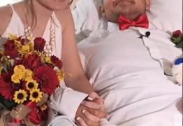 Com câncer terminal jovem se casa em hospital e cerimônia é transmitida para milhares de pessoas