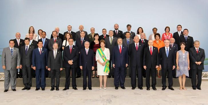 posse ministros dilma 2010 0 - Nove ex-ministros de Dilma devem julgá-la no plenário do Senado; Confira nomes