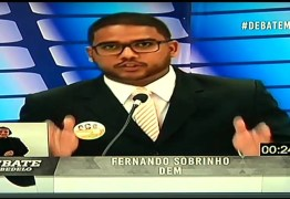 DEBATE NA MASTER: Fernando Sobrinho acusa o prefeito Leto Viana de enriquecer 2000% durante a gestão
