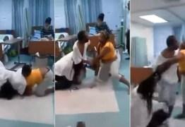 Esposa e amante vão visitar homem ao mesmo tempo em hospital e paciente tem que separar briga; VEJA O VIDEO