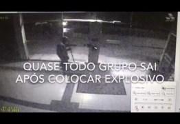 VEJA VÍDEO – Bandido acaba se explodindo durante roubo a caixa eletrônico