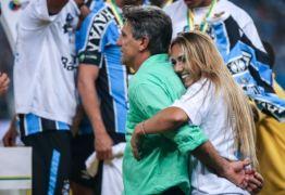 R$ 50MIL: Filha do técnico Renato Gaúcho entra em campo e Grêmio é multado novamente