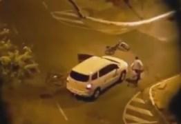 VEJA VÍDEO: Taxista é agredido após tentar matar ciclistas em Manaíra