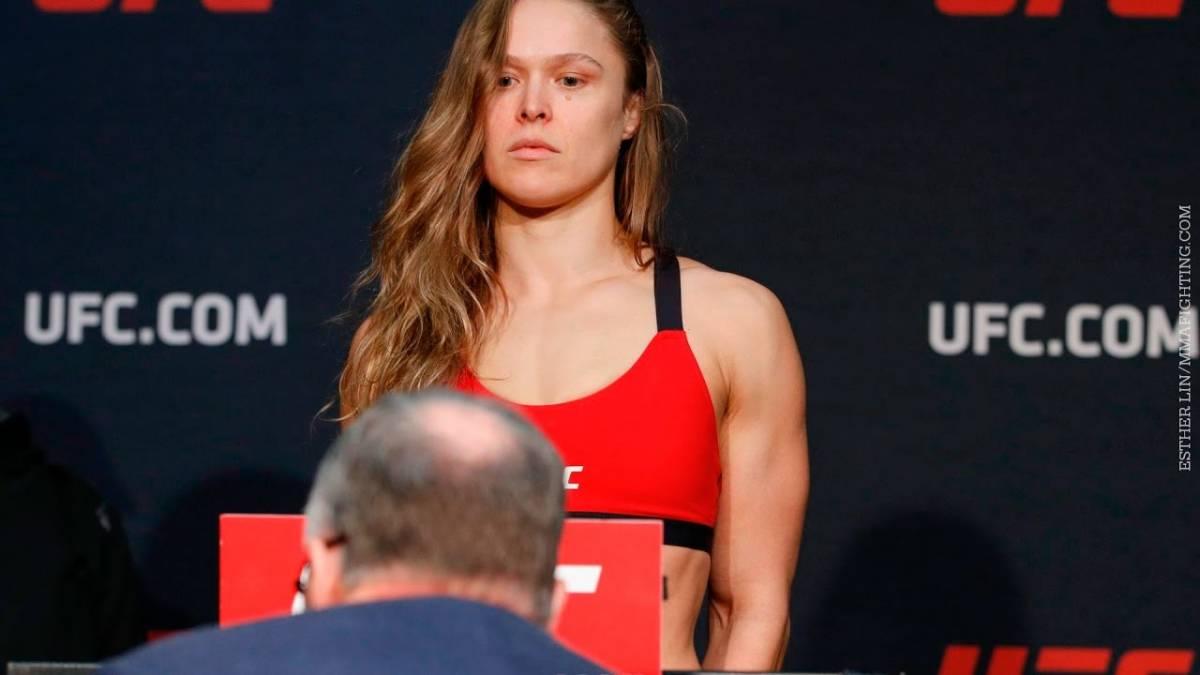 VEJA VÍDEO: Ronda Rousey bate o peso e vai embora sem tirar fotos