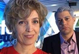 Evaristo Costa e Poliana Abritta ficam 'velhos' após transformação para o Fantástico