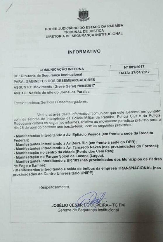 18195242 1420576521331843 569420662 o e1493339674812 - Manifestantes planejam fechar as principais avenidas de João Pessoa; veja a lista