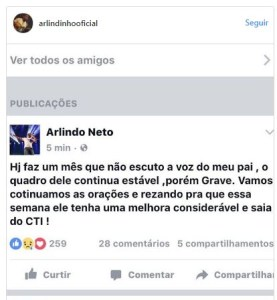 printsss 277x300 - Filho de Arlindo Cruz desabafa: 'Faz um mês que não ouço a voz dele'