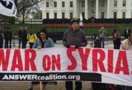 Nos Estados Unidos, Ativistas e cidadãos protestam contra ataque a Síria