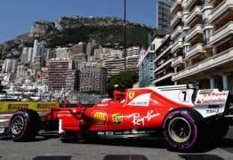Raikkonen é o pole em Mônaco, e Vettel larga em segundo