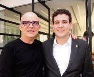Cineasta Bruno Barreto oferece jantar ao deputado paraibano André Amaral
