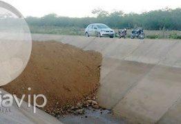 """ROMPIMENTO DO CANAL DA TRANSPOSIÇÃO: Bertrand Asfora diz que vazamento foi contido e """"está sob controle"""""""