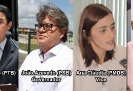 REGRAS DA SITUAÇÃO: João Azevedo pra governador,  Ana Cláudia vice e Luiz Couto e Wilson Santiago para o senado – Por Rui Galdino
