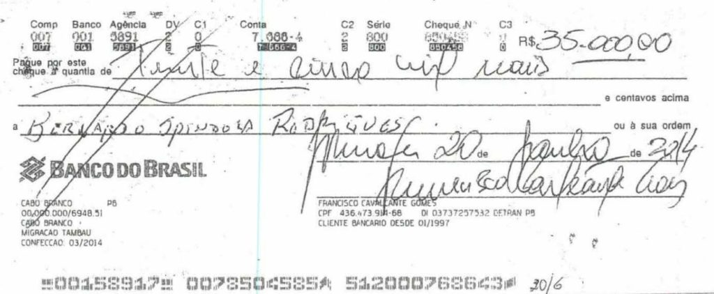 cheque-3 Grupo liderado por Tatiana Lundgren comprou R$ 238 mil em joias com cheques sem fundo