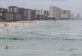"""Banhistas fazem """"corrente humana"""" e salvam família de afogamento em praia dos EUA"""