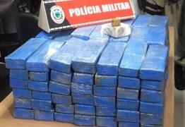 PM efetua prisão de jovem que carregava 120 kg de maconha no carro