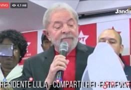 Lula concede entrevista coletiva e recebe apoio de petistas hoje em SP – ASSISTA AO VIVO