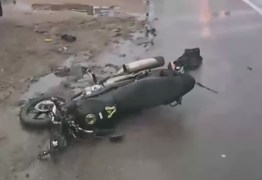 Jovem morre atropelado após cair de moto na BR-230 em João Pessoa
