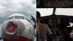 plane 300x169 - Chuva de granizo destrói vidro e bico de avião; piloto foi obrigado a pousar com 'zero visibilidade'