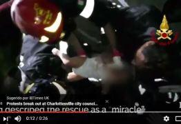 Bebê é resgatado com vida de escombros após terremoto em ilha da Itália – VEJA VÍDEO