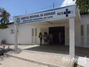 Hospital Sa Andrade em Sape PB 300x225 - Caos na saúde em Sapé: Câmara aprova pedido para compra de medicamentos para o PSF e hospital municipal