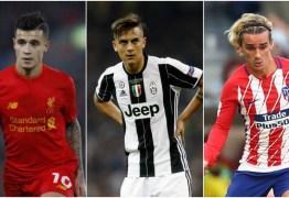 BARCELONA: Saída de Neymar abre vaga para Coutinho, Dybala e Griezmann que podem substitui-lo