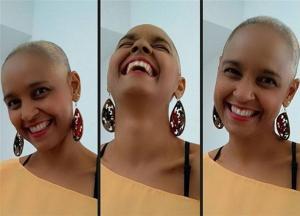 carla visi cheiro de amor 300x216 - Cantora baiana raspa cabelo em luta contra o câncer e faz alerta