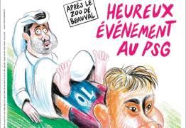 """Jornal francês faz sátira com xeique """"parindo"""" Neymar"""