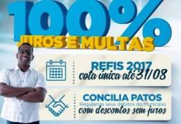 Programas de refinanciamento de dívidas da Prefeitura de Patos continuam até dia 31 de Agosto