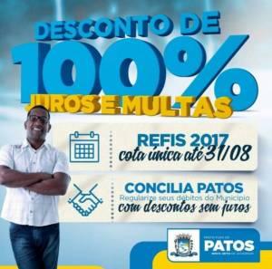 refiseconcilia 300x297 - Programas de refinanciamento de dívidas da Prefeitura de Patos continuam até dia 31 de Agosto