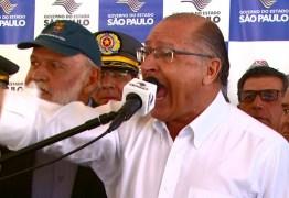 Alckmin discute com deputado federal em evento