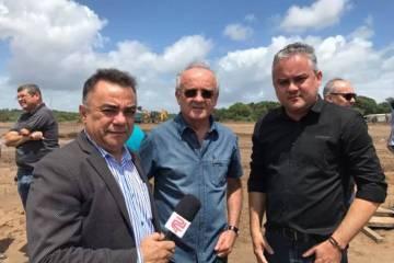 Prefeitura de Alhandra realiza vistoria nas obras do Sale Outlet