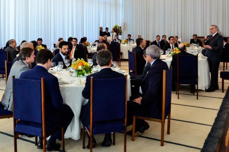 cafe temer - Deputados Federais paraibanos tomam café com Michel Temer no Palácio da Alvorada