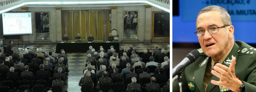 exercito - Chefe do Exército reúne oficiais da ativa e da reserva