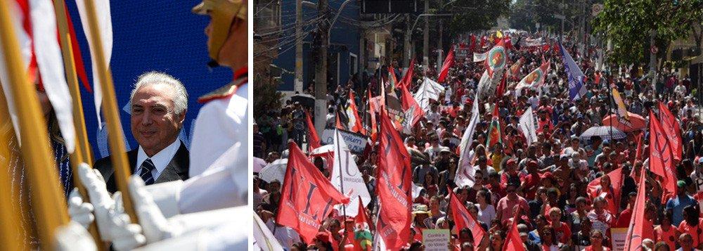 grito dos excluidos - Grito dos Excluídos reúne milhares de pessoas em protesto contra Temer em todo o Brasil