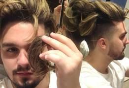 Luan Santana corta o cabelo e doa os fios para ação social