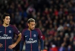 Thiago Silva evitou briga entre Neymar e Cavani no vestiário do PSG, diz jornal