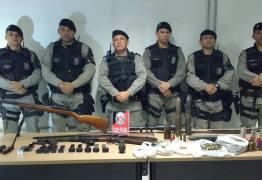 ARTILHARIA DE GUERRA: Com ajuda de helicóptero PM apreende armas, munições e até granadas em Tambauzinho